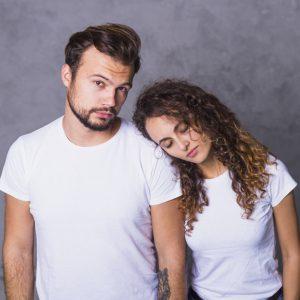 תמונה של הדפסה על חולצות לזוגות